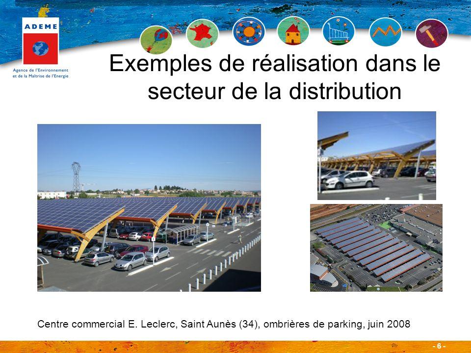 Exemples de réalisation dans le secteur de la distribution