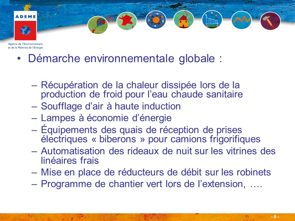Démarche environnementale globale :