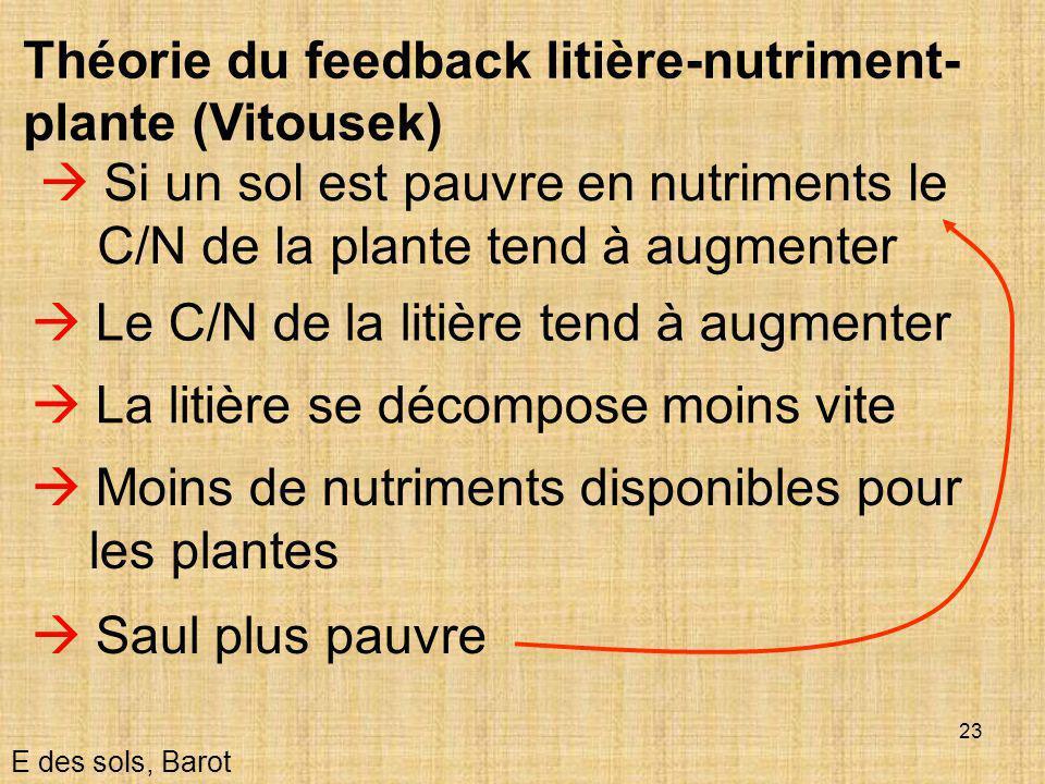 Théorie du feedback litière-nutriment-plante (Vitousek)