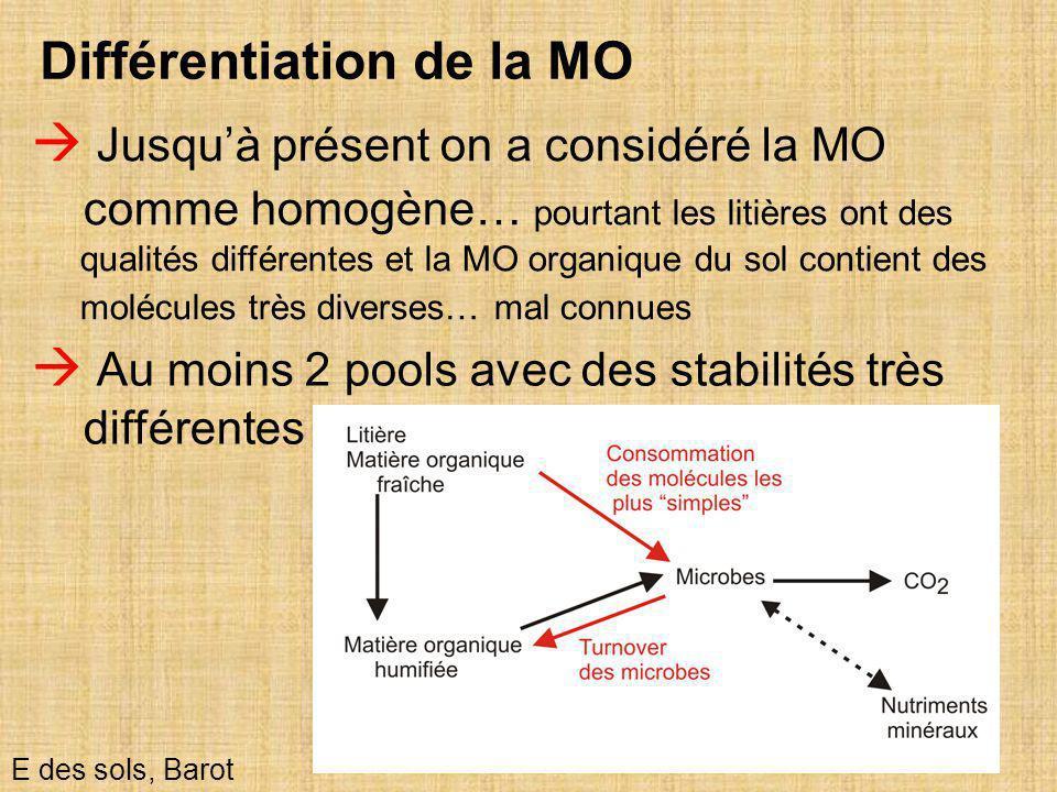 Différentiation de la MO