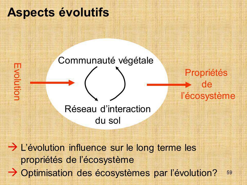 Propriétés de l'écosystème