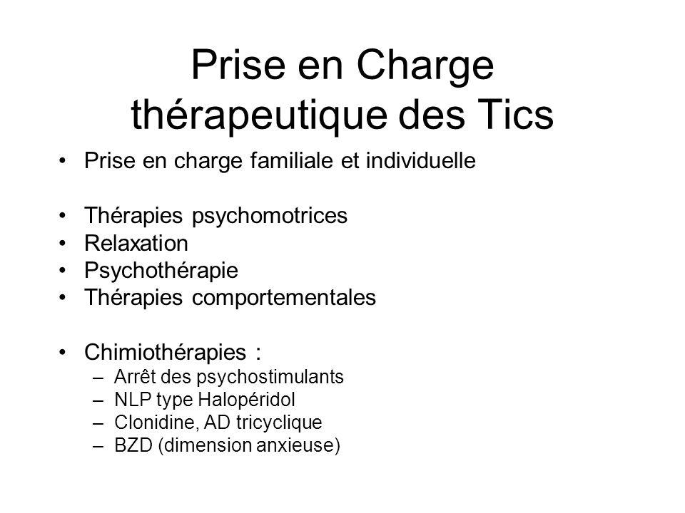 Prise en Charge thérapeutique des Tics