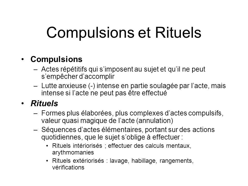 Compulsions et Rituels