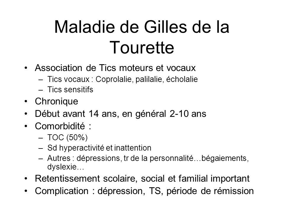 Maladie de Gilles de la Tourette