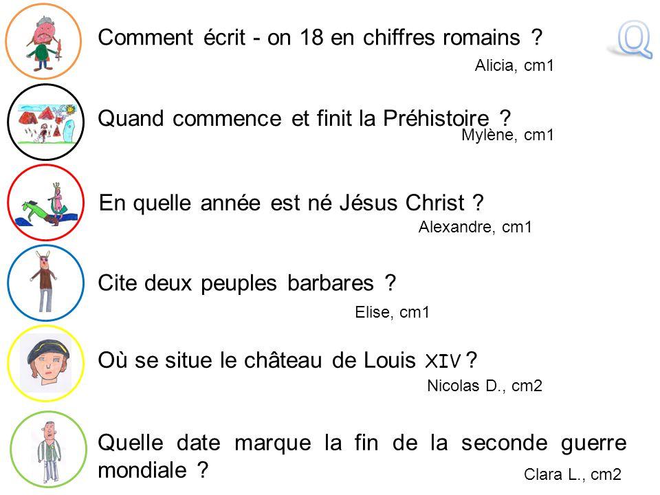 Q Comment écrit - on 18 en chiffres romains