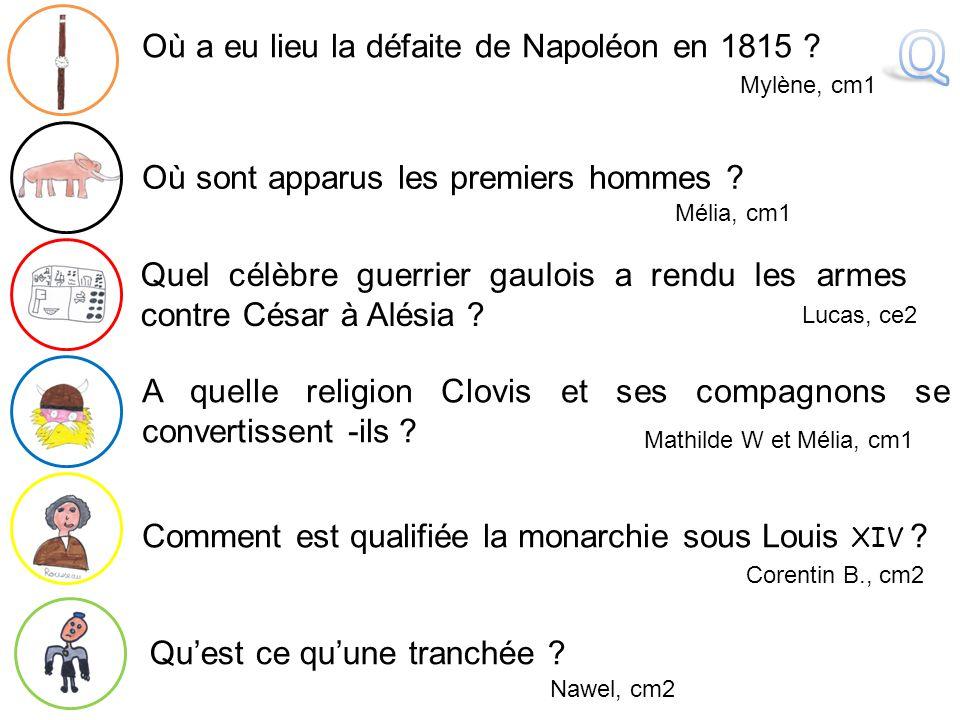 Q Où a eu lieu la défaite de Napoléon en 1815