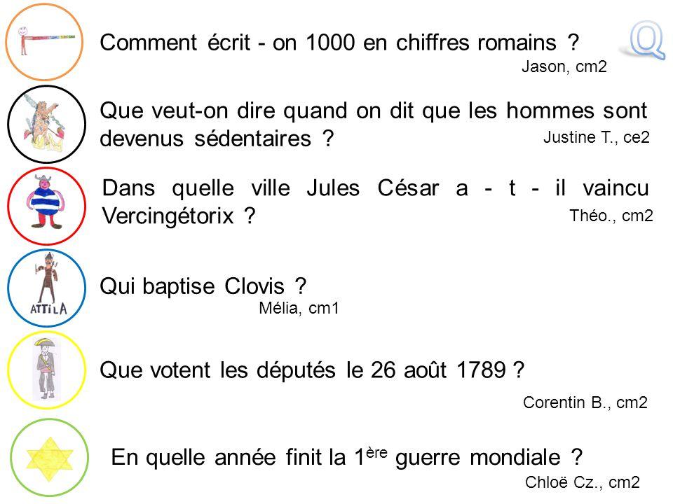 Q Comment écrit - on 1000 en chiffres romains