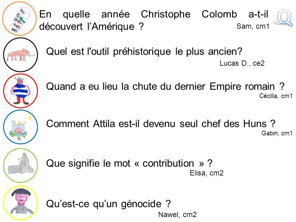 Q En quelle année Christophe Colomb a-t-il découvert l'Amérique