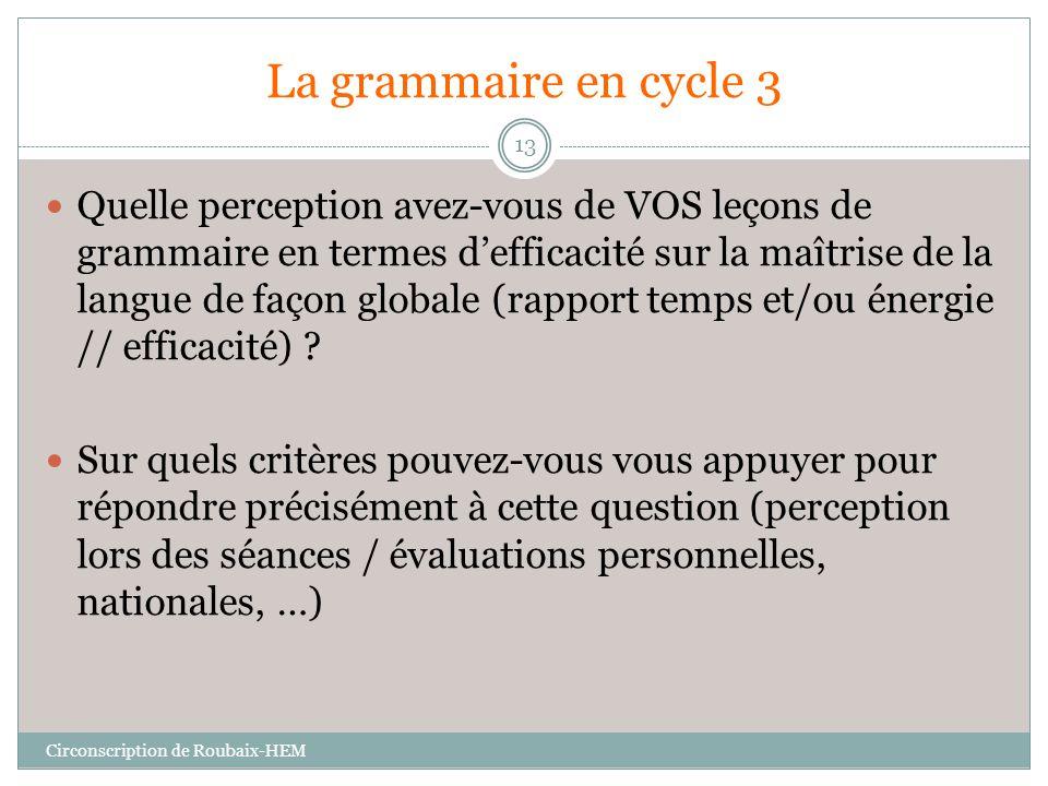 La grammaire en cycle 3