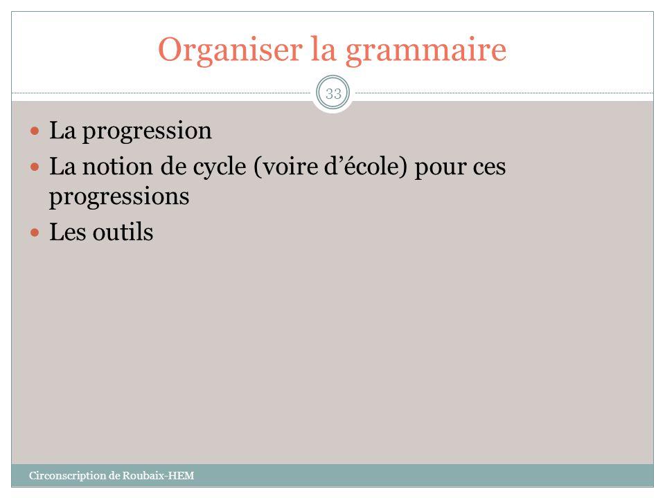 Organiser la grammaire