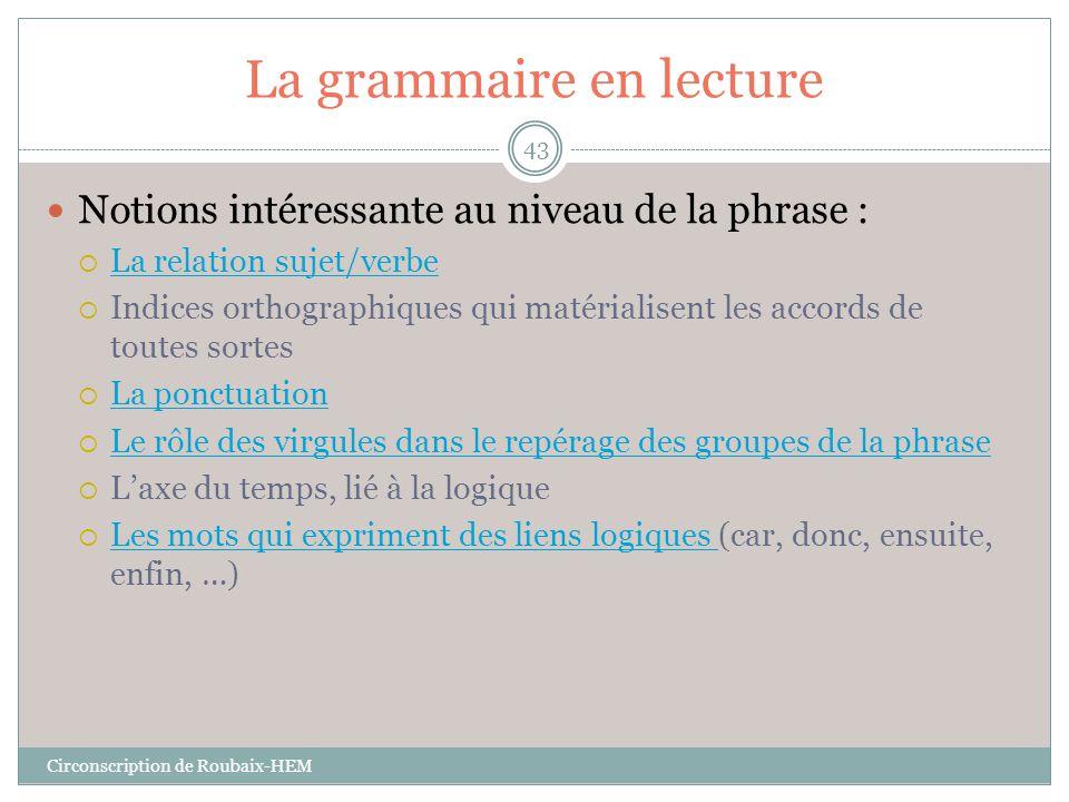 La grammaire en lecture