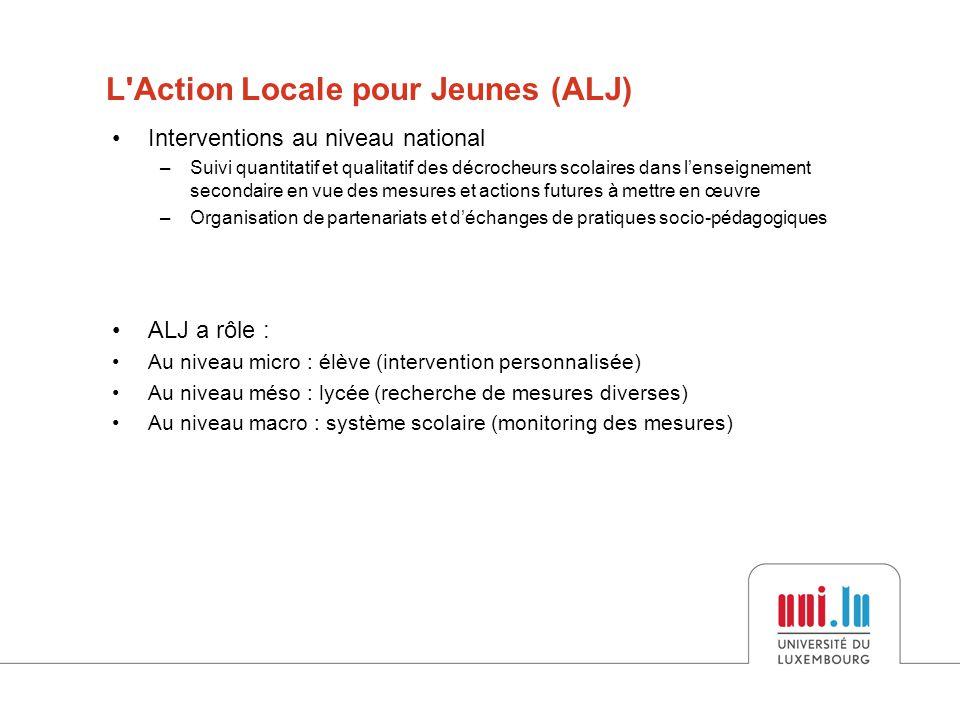 L Action Locale pour Jeunes (ALJ)