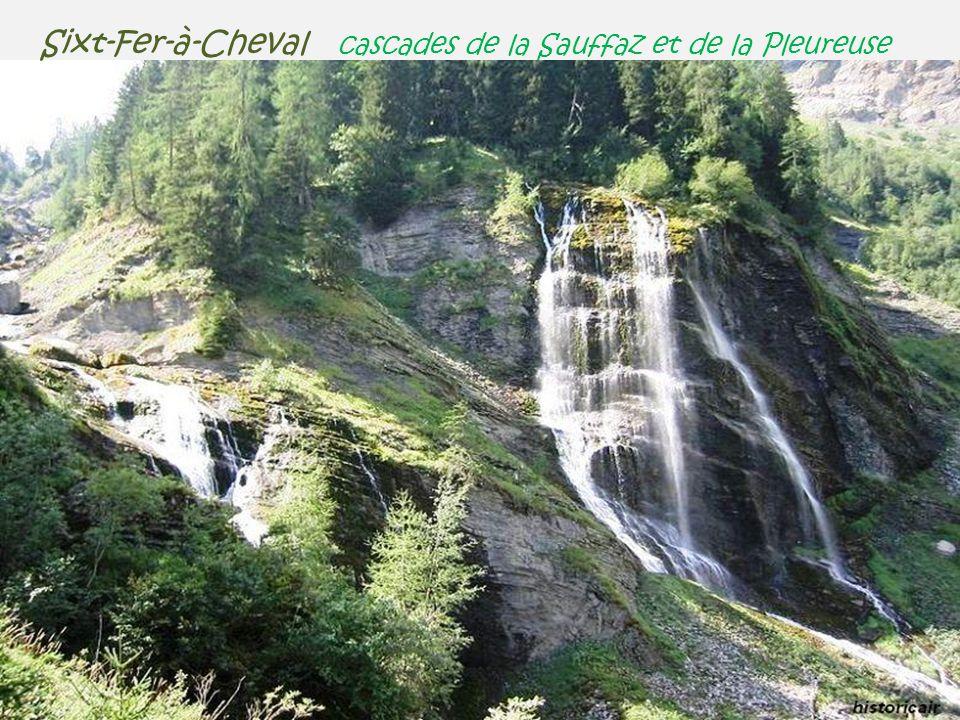 Sixt-Fer-à-Cheval cascades de la Sauffaz et de la Pleureuse