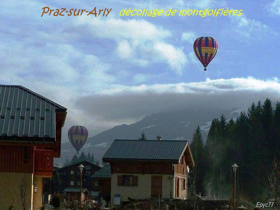 Praz-sur-Arly décollage de montgolfières
