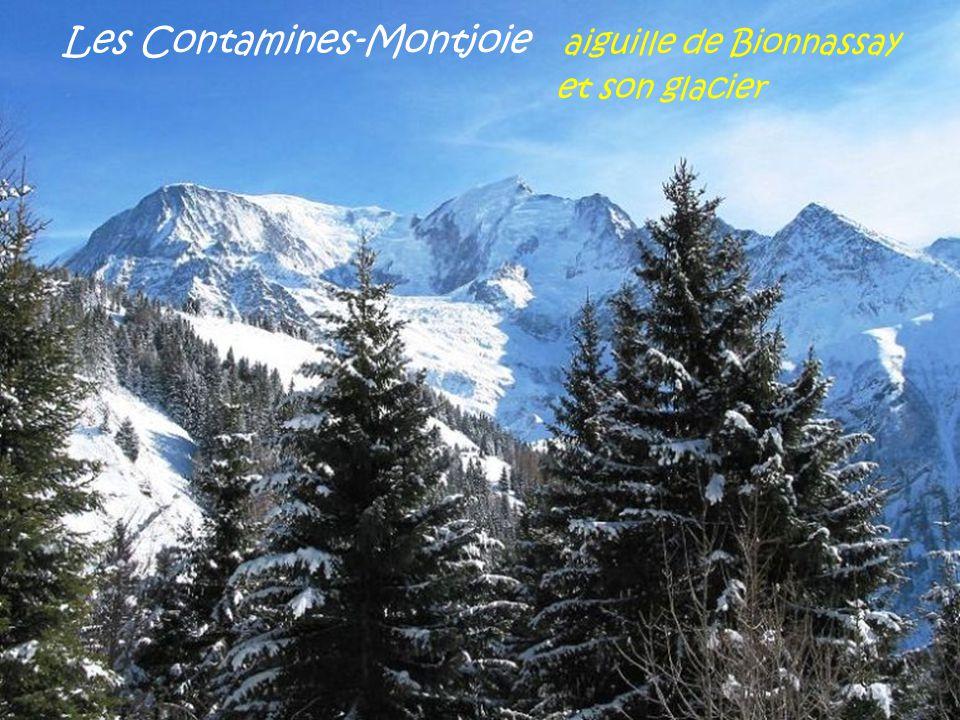 Les Contamines-Montjoie aiguille de Bionnassay . et son glacier