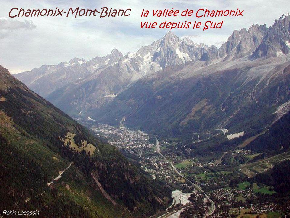 Chamonix-Mont-Blanc la vallée de Chamonix . vue depuis le Sud