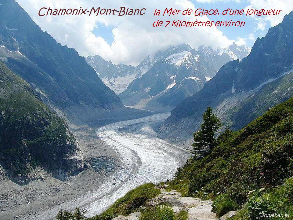 Chamonix-Mont-Blanc la Mer de Glace, d'une longueur