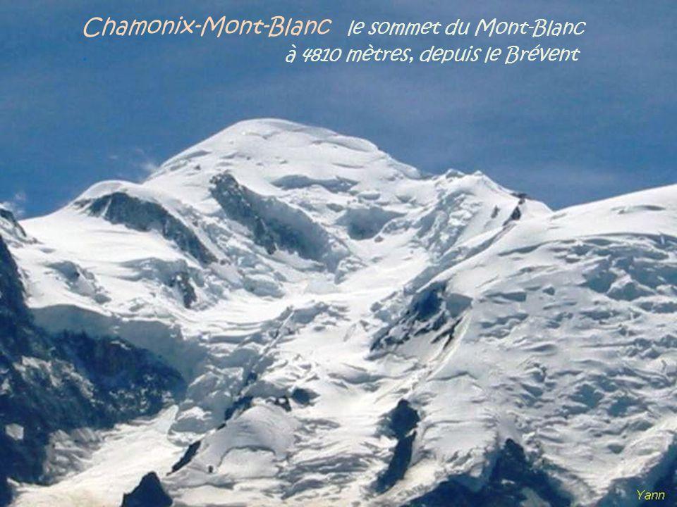 Chamonix-Mont-Blanc le sommet du Mont-Blanc