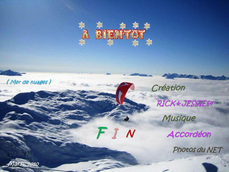 F I N Création Musique Accordéon ( Mer de nuages ) RICK & JESSIE64