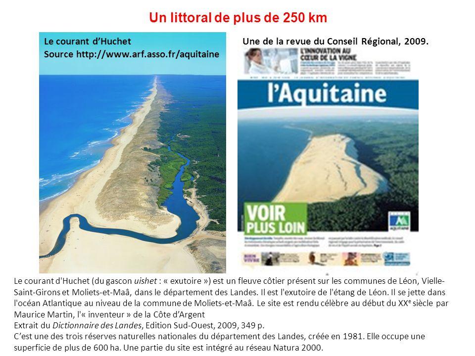 Un littoral de plus de 250 km