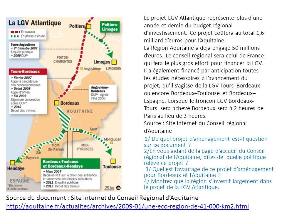 Source du document : Site internet du Conseil Régional d'Aquitaine