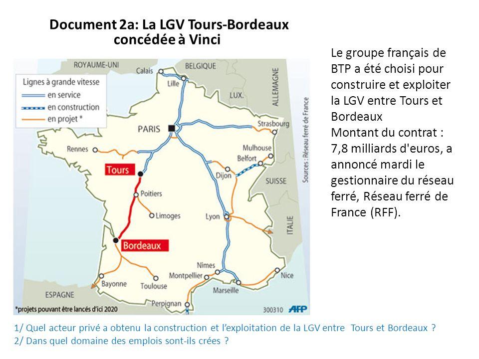 Document 2a: La LGV Tours-Bordeaux concédée à Vinci
