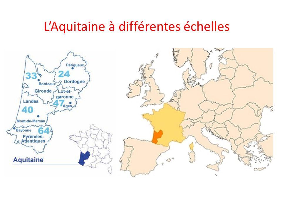 L'Aquitaine à différentes échelles