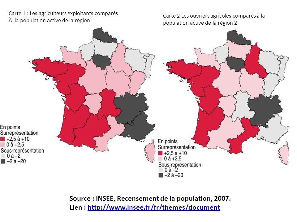 Source : INSEE, Recensement de la population, 2007.