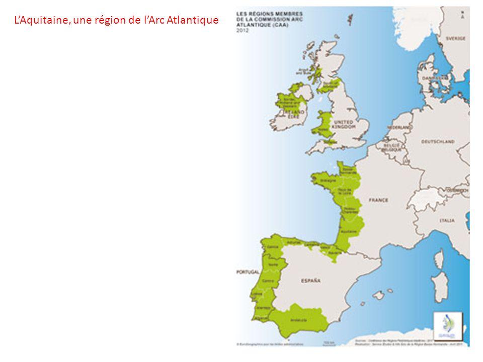 L'Aquitaine, une région de l'Arc Atlantique