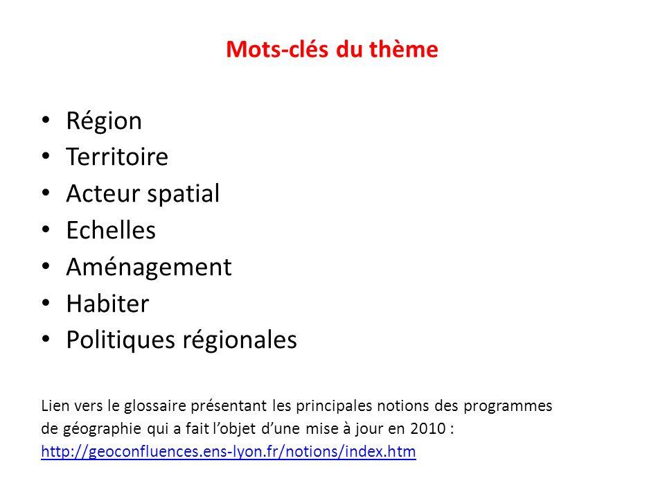 Politiques régionales
