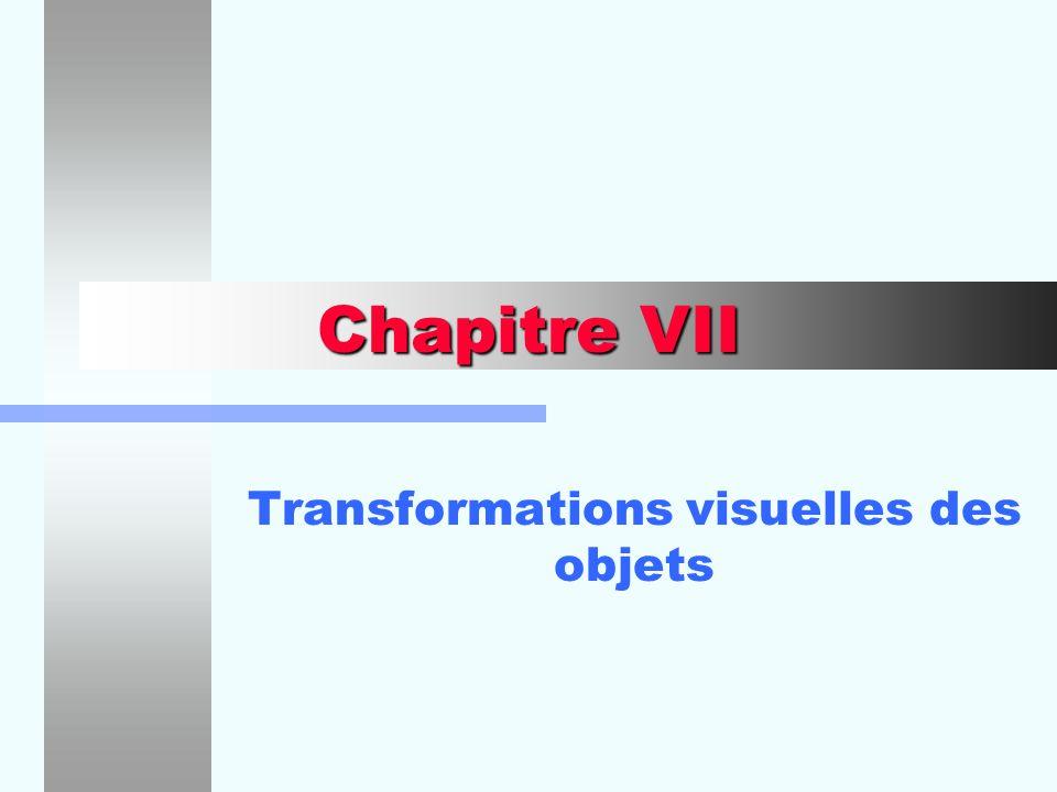 Transformations visuelles des objets