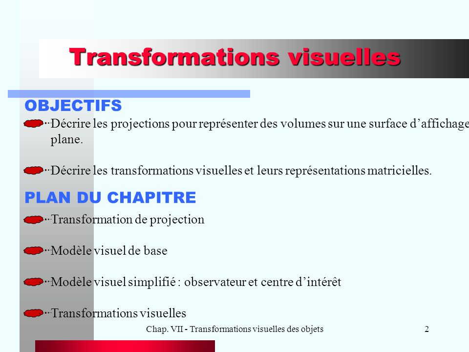 Transformations visuelles