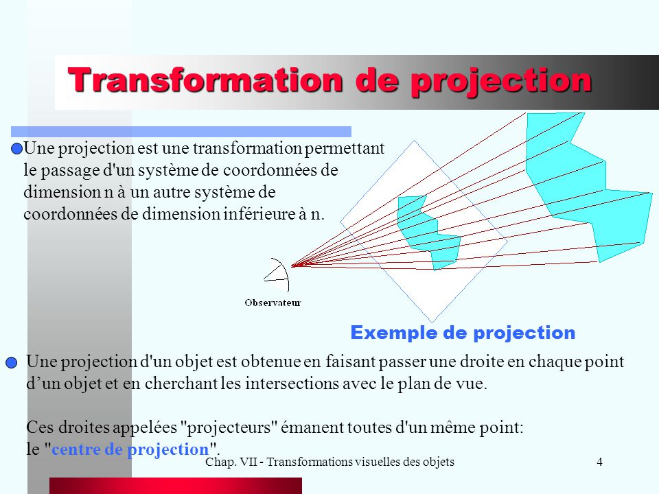 Transformation de projection