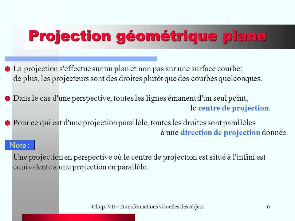Projection géométrique plane