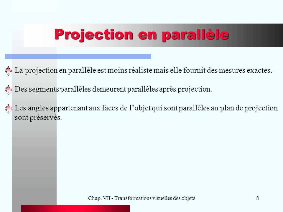 Projection en parallèle