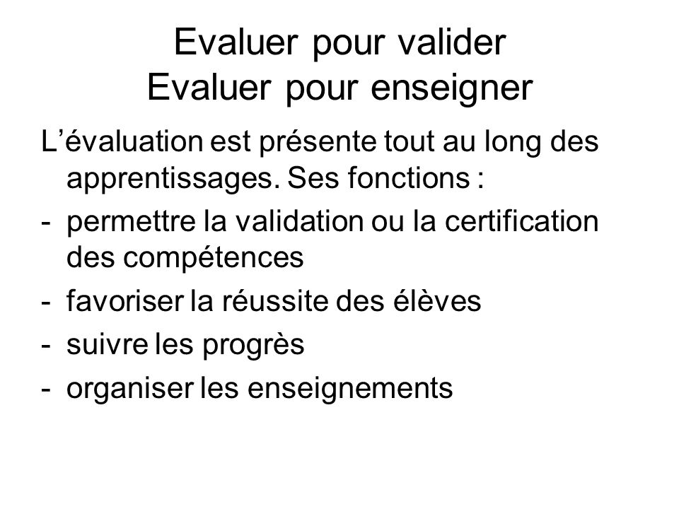 evaluer - valider les comp u00e9tences au cycle 3