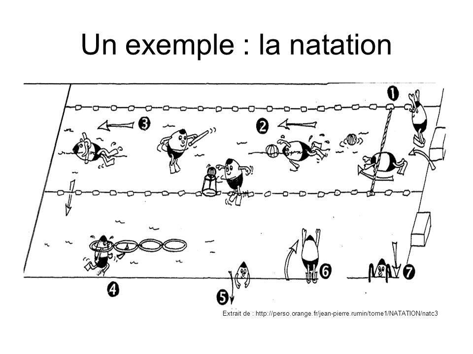 Un exemple : la natation