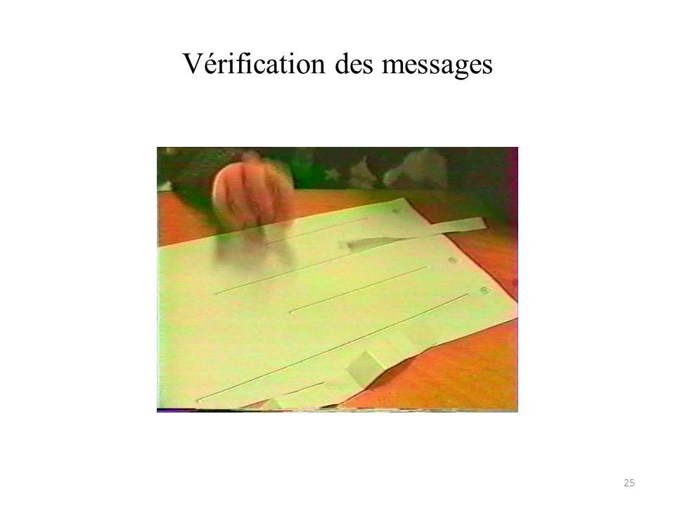 Vérification des messages