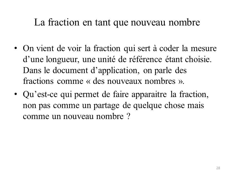 La fraction en tant que nouveau nombre