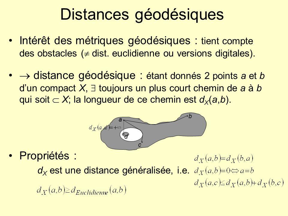 Distances géodésiques