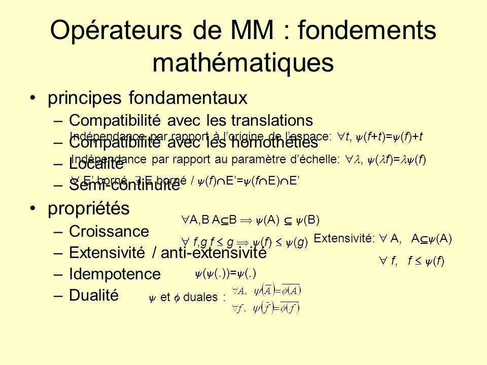 Opérateurs de MM : fondements mathématiques