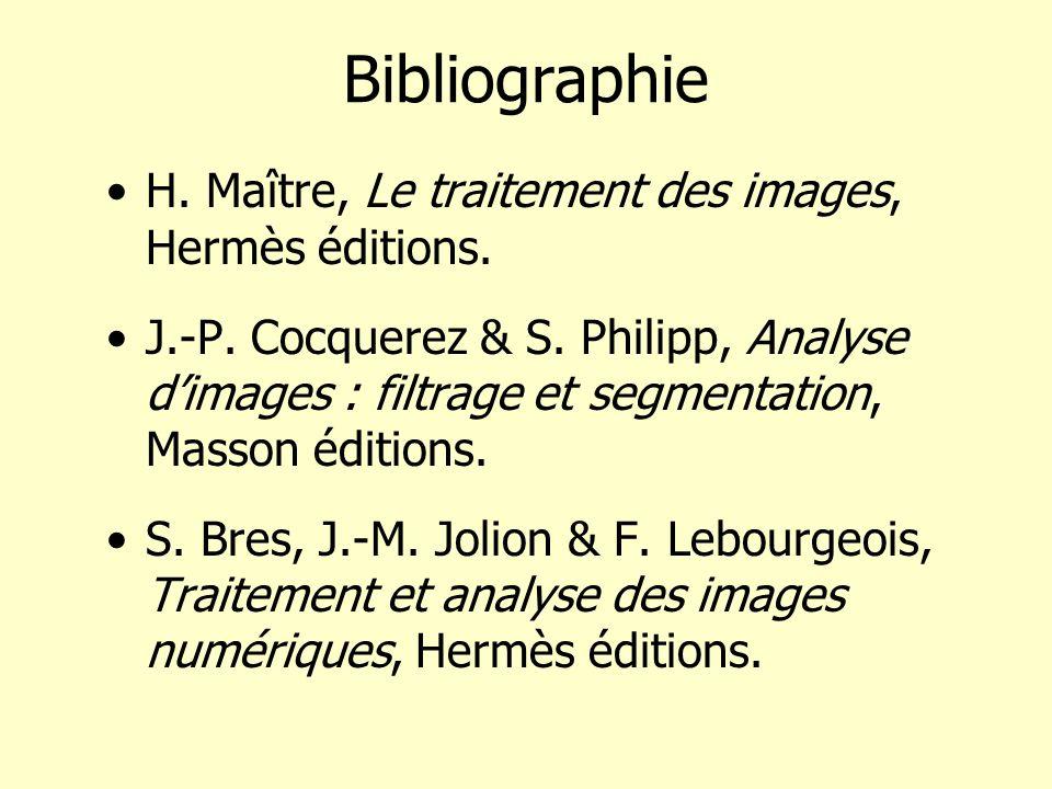 Bibliographie H. Maître, Le traitement des images, Hermès éditions.