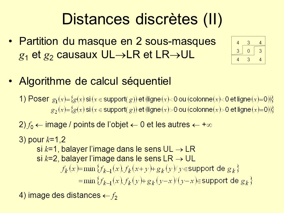 Distances discrètes (II)