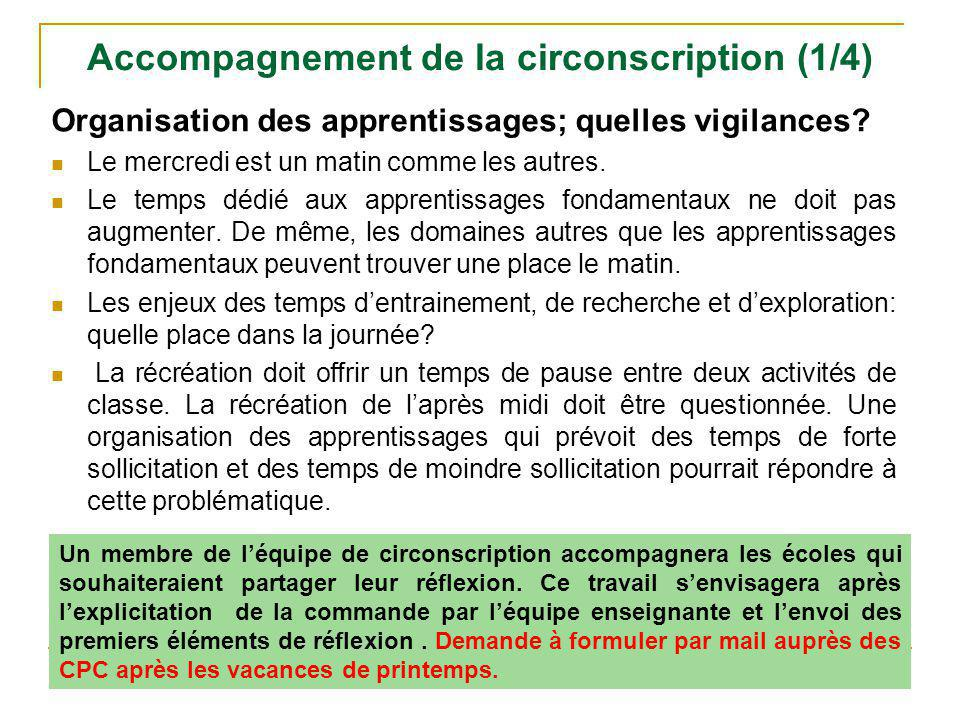 Accompagnement de la circonscription (1/4)
