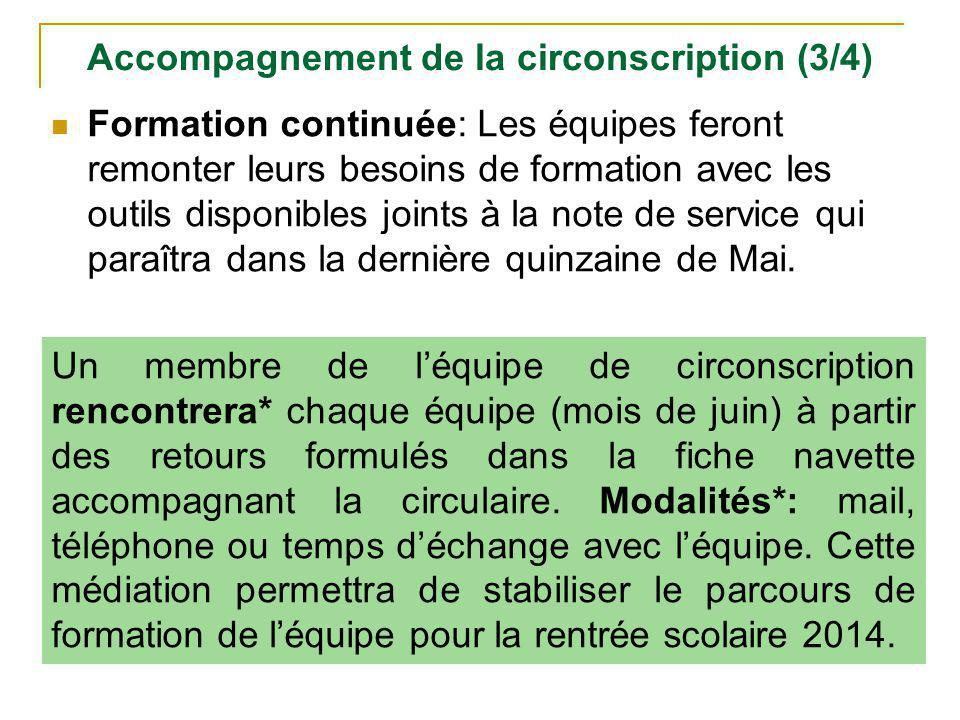 Accompagnement de la circonscription (3/4)