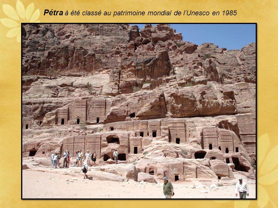 Pétra à été classé au patrimoine mondial de l'Unesco en 1985