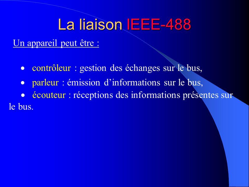 La liaison IEEE-488 Un appareil peut être :