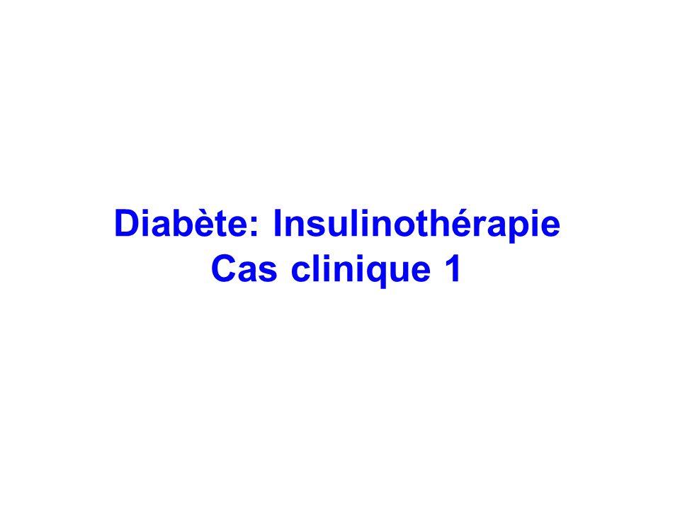 Diabète: Insulinothérapie Cas clinique 1