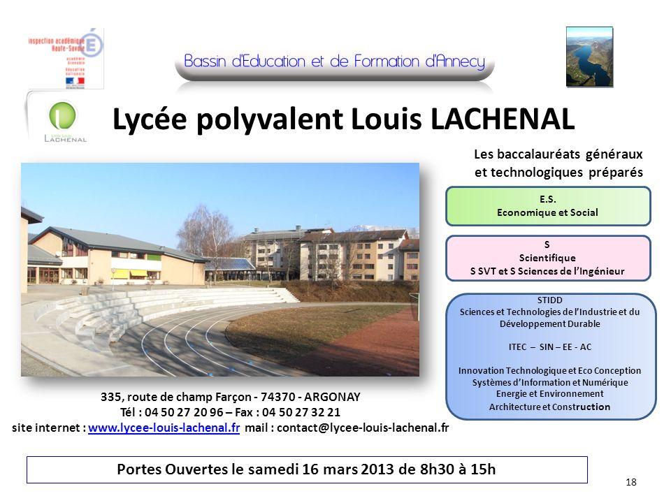 Lycée polyvalent Louis LACHENAL