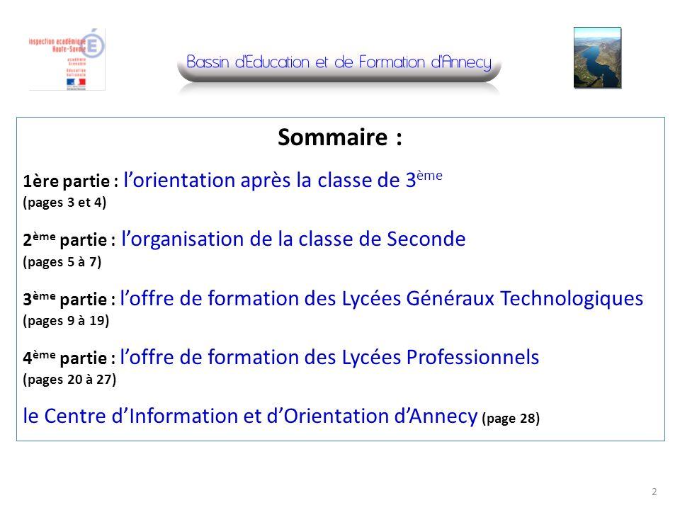 Sommaire : le Centre d'Information et d'Orientation d'Annecy (page 28)